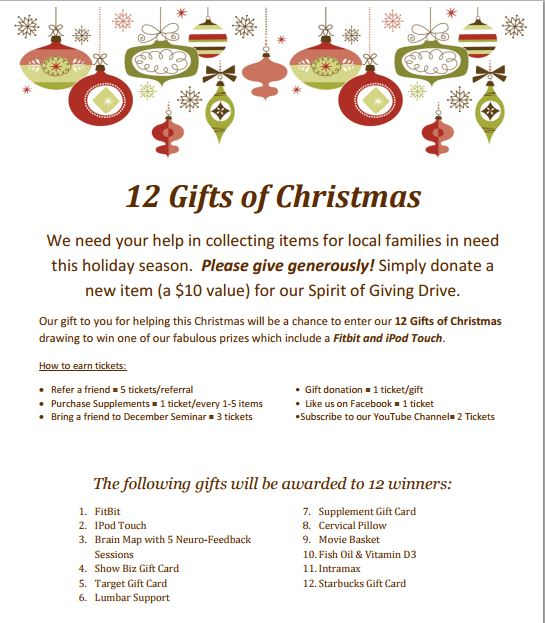 the wellness connection december 2015 by clark tags 12 gifts of christmas - The 12 Gifts Of Christmas