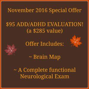 November 2016 Special Offer